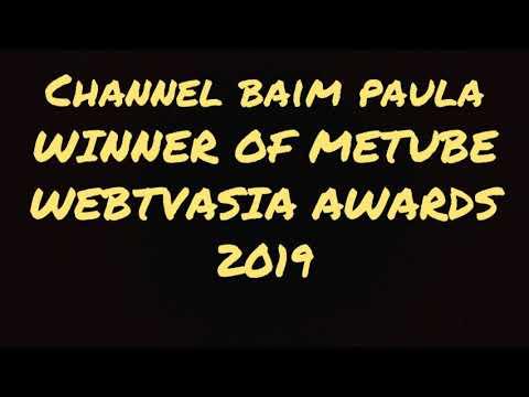 "BAIM WONG DI VIETNAM : CHANNEL ""BAIM PAULA"" MENANG PENGHARGAAN METUBE WEBTVASIA AWARDS 2019"