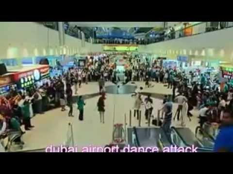 Dance attack  in DUBAI AIRPORT