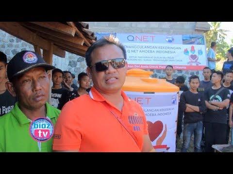 Bulan Amal Nasional, Qnet Amoeba Trenggalek Peduli Bencana Kekeringan - bioztv.id
