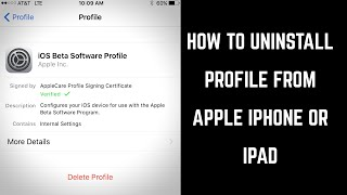How to Uninstall Profile from Apple iPhone or iPad
