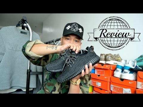 c11f26989 Yeezy Boost 350 Pirate Black Unboxing + On Foot. - смотреть онлайн ...