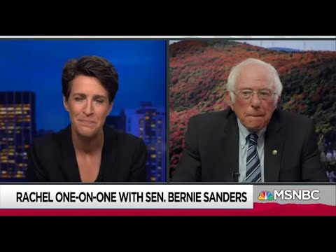 Bernie Sanders on Rachel Maddow: When Trump Says he'll Rig Election, Take him seriously!