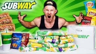 I ATE EVERY SUB ON THE SUBWAY MENU! (FULL MENU CHALLENGE)