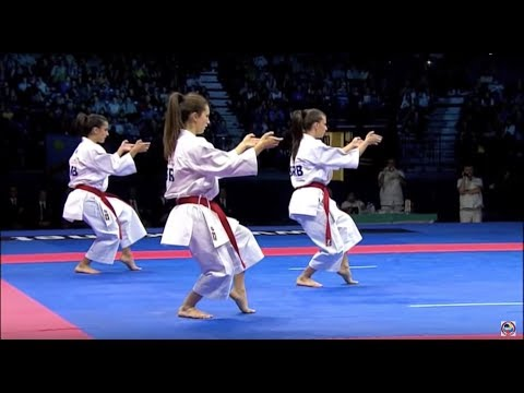 Karate Female Team Kata Bronze Medal - Serbia Vs Italy - WKF World Championships Belgrade 2010 (1/2)