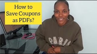 How to Save Coupons as PDF? (On Coupons.com)
