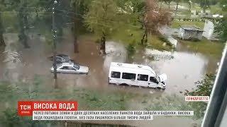 Через потужні зливи затопило кілька районів Прикарпаття