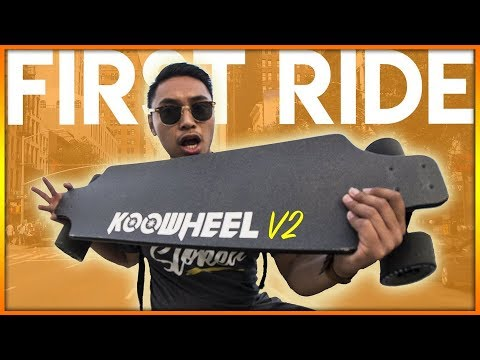 NEW Koowheel Onyx Gen 2 Electric Skateboard First Ride Review