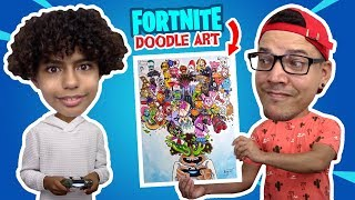 DIBUJANDO DOODLE ART DE FORTNITE - Trada Art