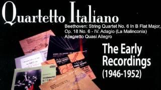 Beethoven: String Quartet No. 6 in B-flat major / Quartetto per archi n. 6 in si bemolle maggiore