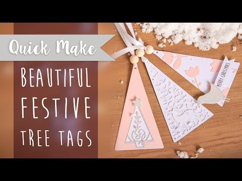 How to Create Festive Tree Tags - Sizzix