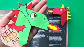 Easy Dragon Corner Bookmark DIY   Chinese New Year Dragon Craft