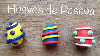 HUEVOS DE PASCUA de plastilina | PLAY DOH sorpresa en español