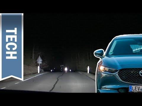 Matrix LED Scheinwerfer (ALH) im Mazda3 & CX-30 im Test bei Nachtfahrt
