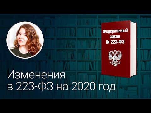 Изменения в 223 ФЗ на 2020 год