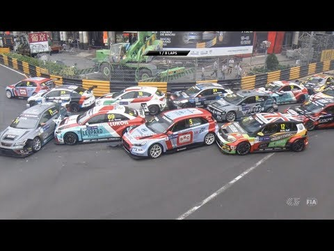 WTCR 2018. Race 2 Macau Grand Prix. Start Pile Up