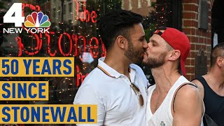 NYC Pride: Thousands gather at Stonewall Inn 50 years after LGBTQ uprising | NBC New York