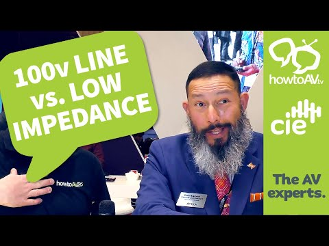 100v line vs low impedance - What's the difference?