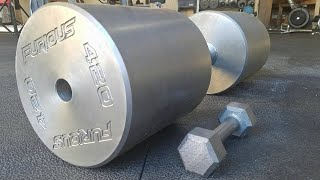 Making The Worlds HEAVIEST Dumbbell! (420lbs)