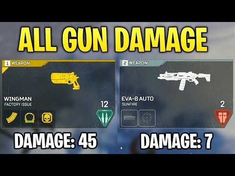 Apex Legends DID YOU KNOW? - All Gun Damage (Which Guns are Good & Which Guns Suck)