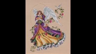 "Ангел-хранитель от "" Classic Design"" продолжение/сравнение ниток/покрасила канву"