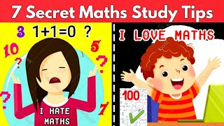 7 Effective Tips & Tricks In 1 Video   Mathematics study tips   Super Tips to Score 100% in Maths