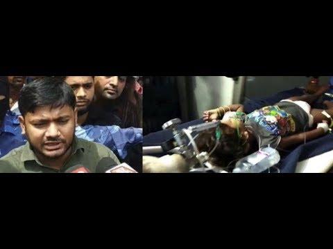 """""""चमकी"""" से पीड़ित बच्चों का हाल जानने अस्पताल पहुंचे कन्हैया कुमार का हुआ विरोध"""
