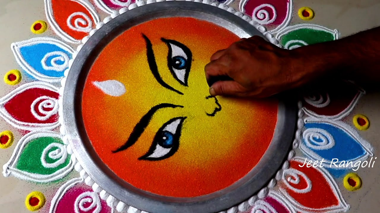 easy and attractive rangoli design for festivals by jeet rangoli