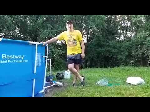 Супер способ фильтрации воды в бассейне! Как очистить бассейн от железа,фильтрация воды,супер способ