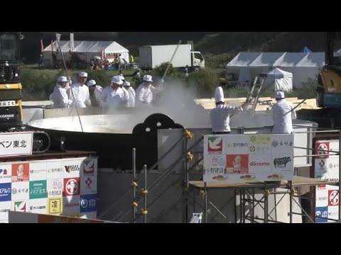 العرب اليوم - شاهد: تحضير أكبر طبق حساء في اليابان بمقادير ضخمة