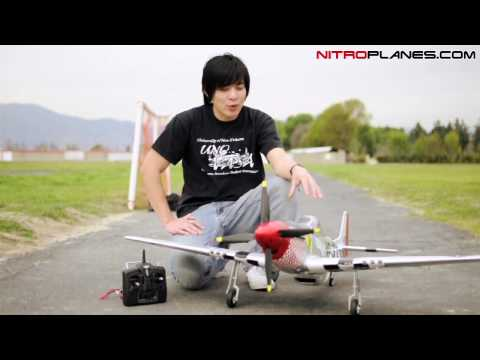 New Brushless P-51 Mustang  War Plane w/ Retracts Flight and Review