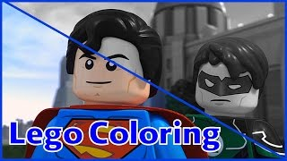 Lego Coloring Pages | Superman and Green Lantern | Lego Coloring Pages Fun