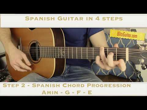 Spanish Guitar in 4 Steps - Intro, Chord Progression, Melody and Ending