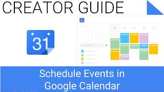 Schedule Event in Google Calendar