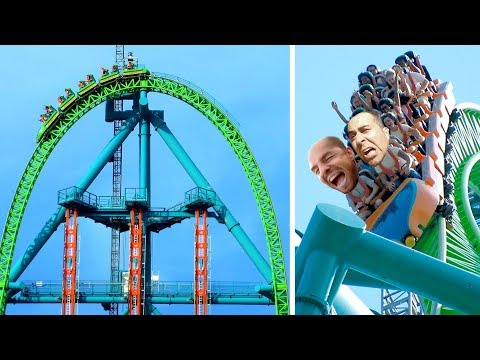 CRAZIEST Roller Coaster in the World - 206 km/h Kingda Ka, Six Flags, New Jersey