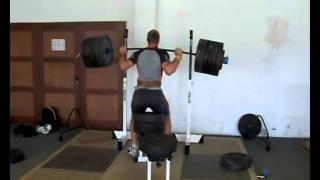 Robert Harting - half squat 3x310kg - 2011