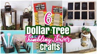 6 Best DOLLAR TREE DIY Tumbling Tower Crafts