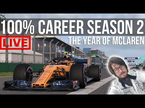 F1 2018 - 100% Distance Career Mode SEASON 2 | Round 1: Melbourne