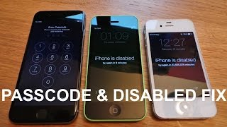 How to Unlock A disabled iPhone 5c | Factory Reset iPhone without Passcode