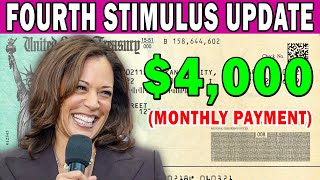 WOW! $4,000 Fourth Stimulus Cash Payment is Coming? | KAMALA DID IT? | Stimulus Every Month 2021