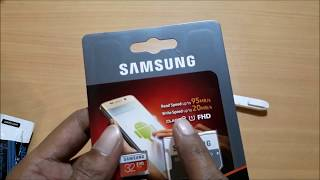 Samsung Evo Plus 32GB MicroSDHC UHS-I Card Unboxing & Full Review