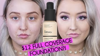 The Ordinary Full Coverage Foundation DRY SKIN First Impressions Review