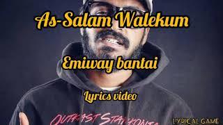 As-Salam Walekum - emiway bantai - lyrics video - YouTube
