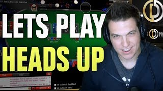 Let's Play Heads Up (Day 37, Bankroll Challenge)