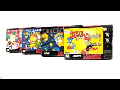 Every Simpsons Game on SNES - A Brief History