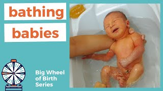 BATHING BABIES after birth | when to give your baby their first bath