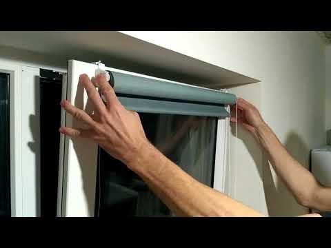 САМЫЙ ПРОСТОЙ СПОСОБ! (за 4 мин) УСТАНОВКА РУЛОННОЙ ШТОРЫ на пластиковое окно без сверления