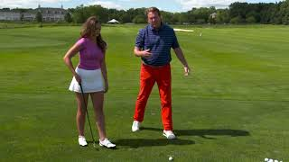 Using Golf Tees To Help Practice A Better Iron Swing