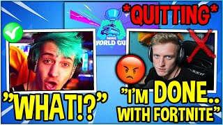 Ninja Reacts To Tfue Quitting Fortnite Th Clip