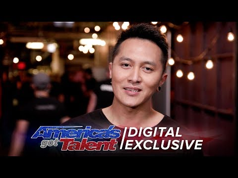 Elimination Interview: Demian Aditya Recalls His Last Performance - America's Got Talent 2017 (видео)
