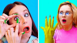 RELATABLE GIRLY STRUGGLES WITH LONG NAILS! || Funny Girls Problems And Fails By 123 Go! Live